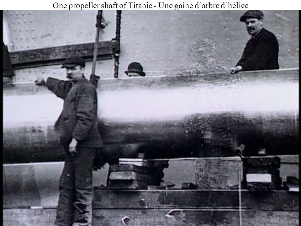 Une vue rarissime du Titanic pendant sa construction.
