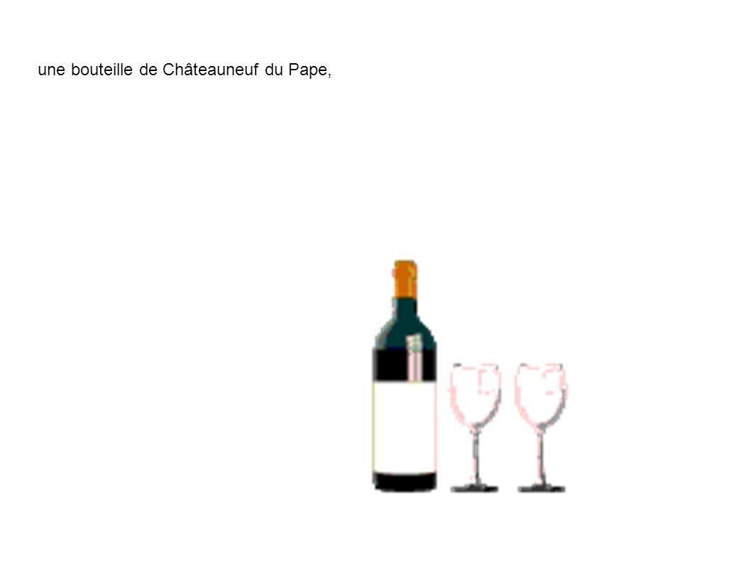 une bouteille de Châteauneuf du Pape,