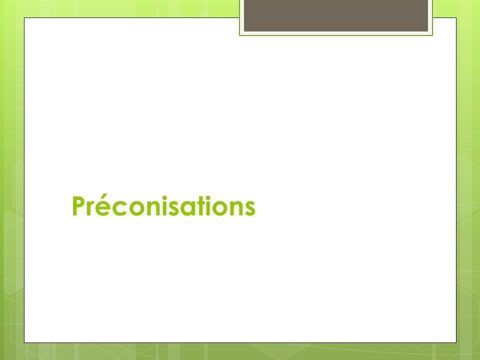 Préconisations