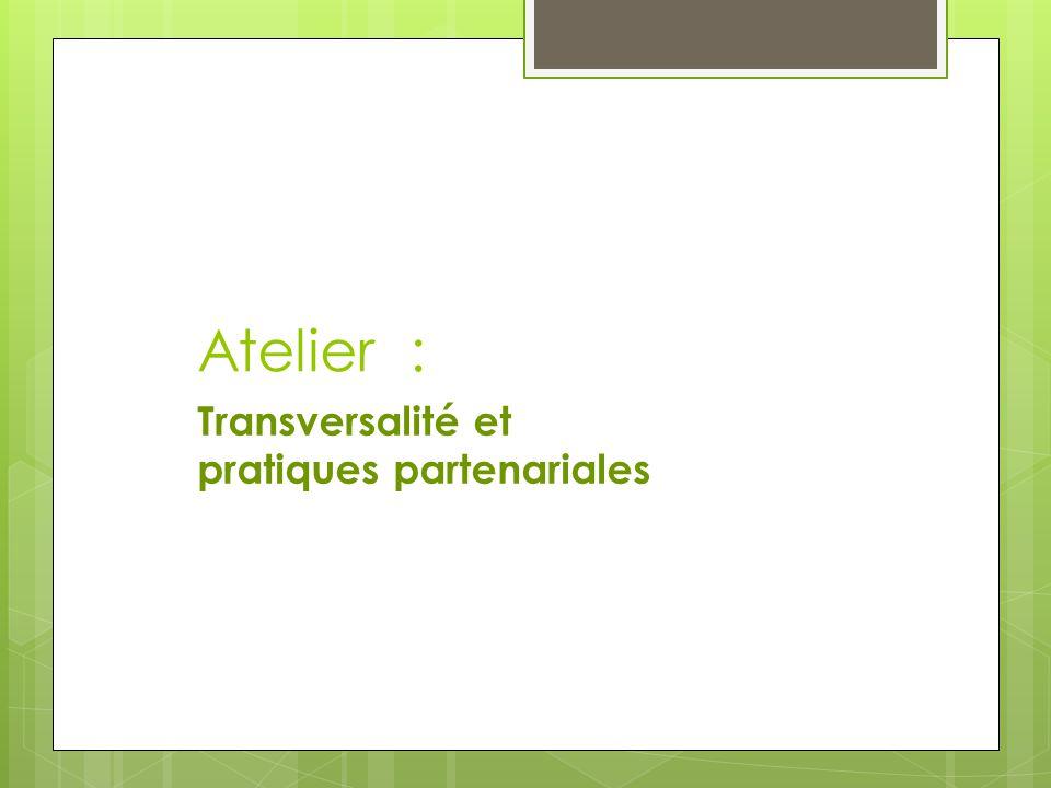 Atelier : Transversalité et pratiques partenariales