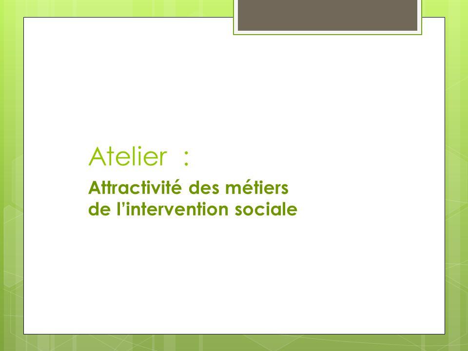 Atelier : Attractivité des métiers de l'intervention sociale
