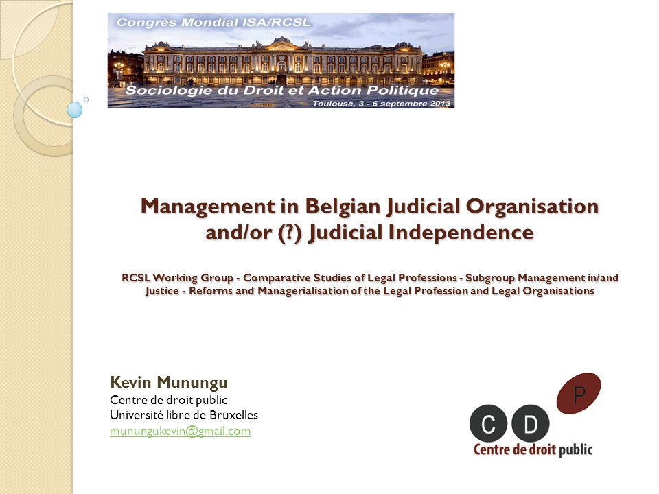 Justice as an institution Justice as an organisation Management techniques