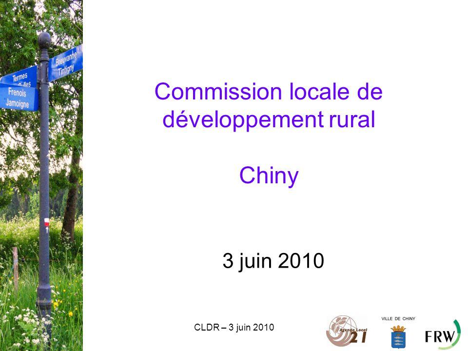CLDR – 3 juin 2010 Commission locale de développement rural Chiny 3 juin 2010
