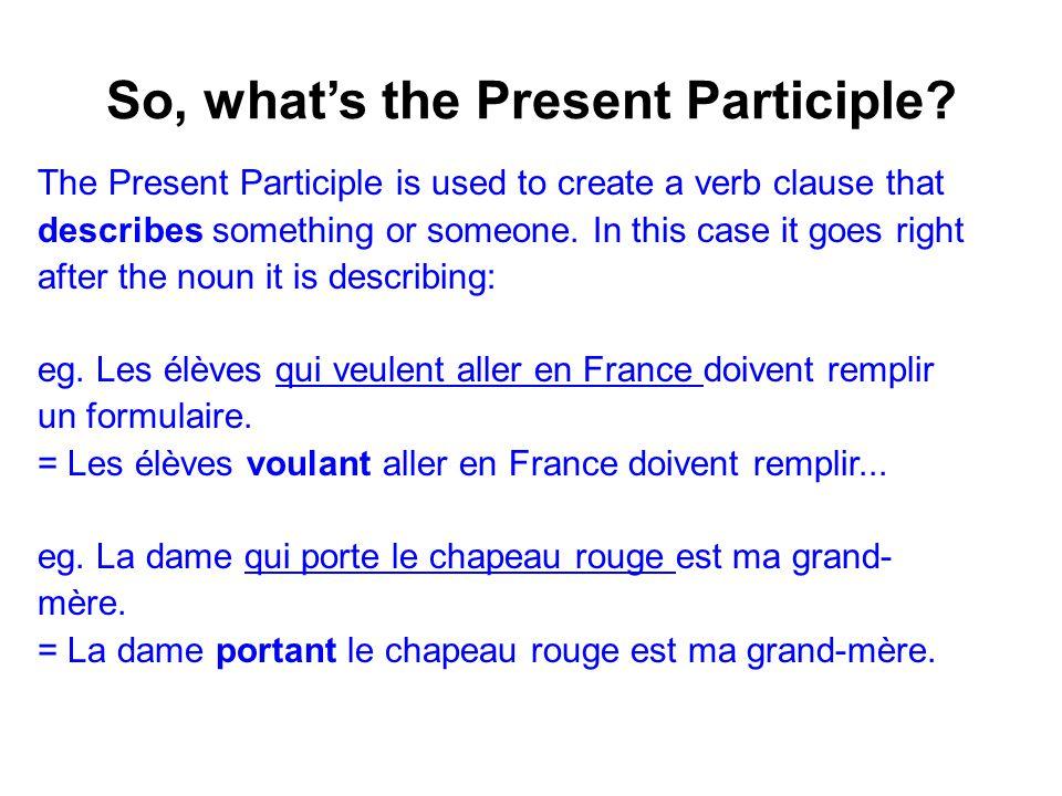 Using the present Participle En faisant du parapente, on voit tant de choses.