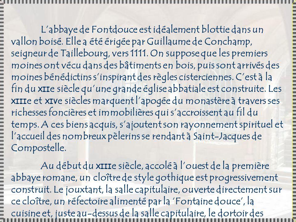 L Abbaye de Fontdouce, entre Saintes et Cognac, est située à Saint-Bris-des-Bois, en France (Charente-Maritime).