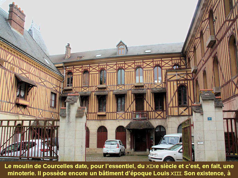 Le château, dit manoir de Courcelles, a été édifié dans le style Louis XIII au XVII e siècle, mais a été remanié à diverses reprises. Seul le corps co