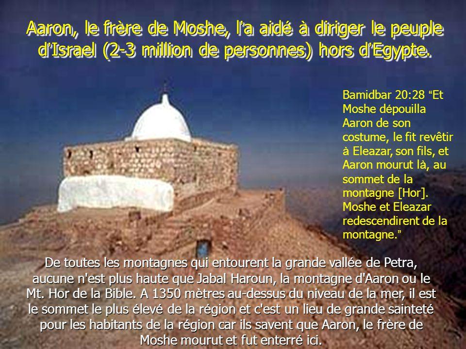 Aaron, le fr è re de Moshe, l ' a aid é à diriger le peuple d ' Israel (2-3 million de personnes) hors d ' Egypte.
