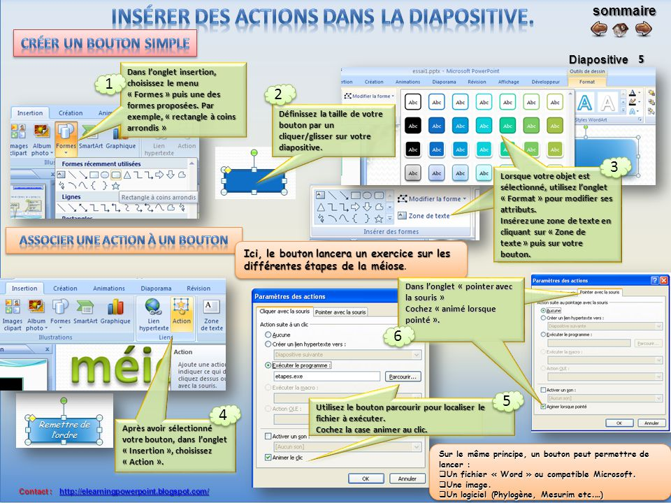 sommaire Diapositive Contact : http://elearningpowerpoint.blogspot.com/ Contact : http://elearningpowerpoint.blogspot.com/http://elearningpowerpoint.blogspot.com/ 4 Sélectionnez votre vidéo en cliquant dessus.