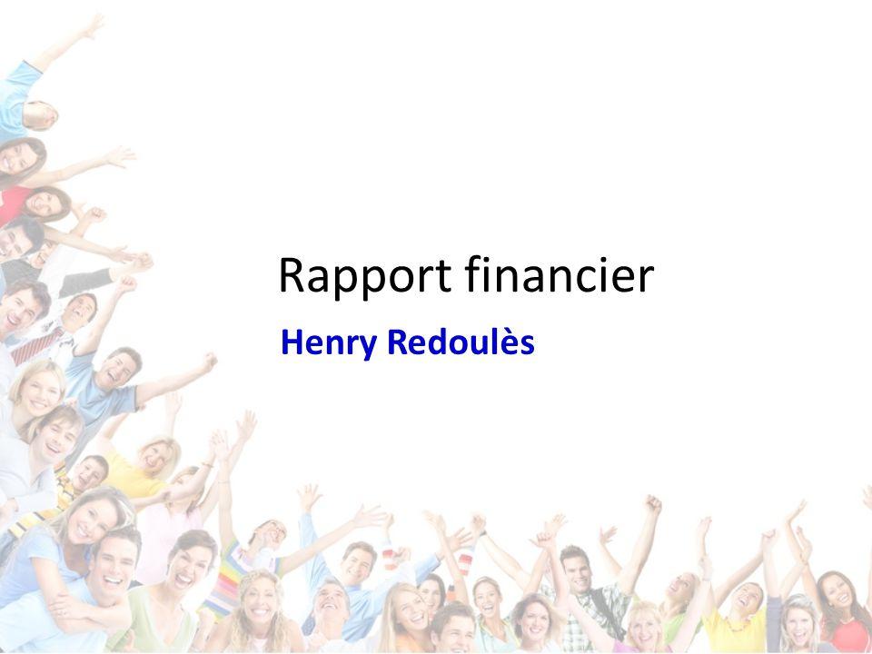 Rapport financier Henry Redoulès