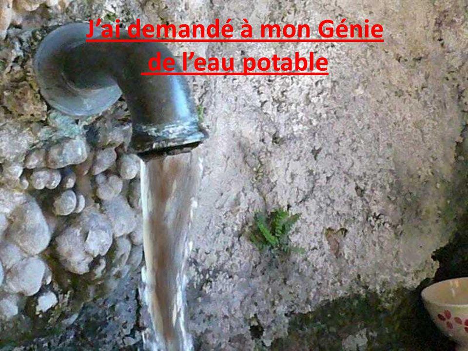 J'ai demandé à mon Génie de l'eau potable