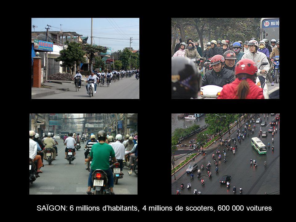 SAÏGON: 6 millions d'habitants, 4 millions de scooters, 600 000 voitures