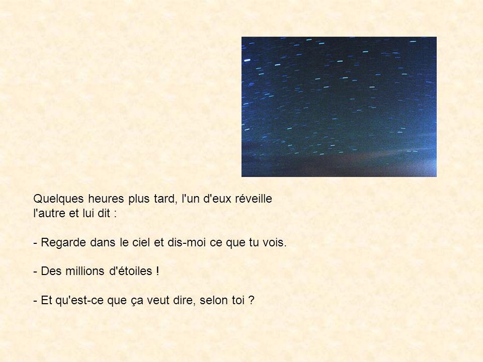 Le Belge réfléchit à la question un instant et dit : - Ben, astronomiquement parlant, cela veut dire qu il y a des millions de galaxies et des milliards de planètes dans le vaste espace.