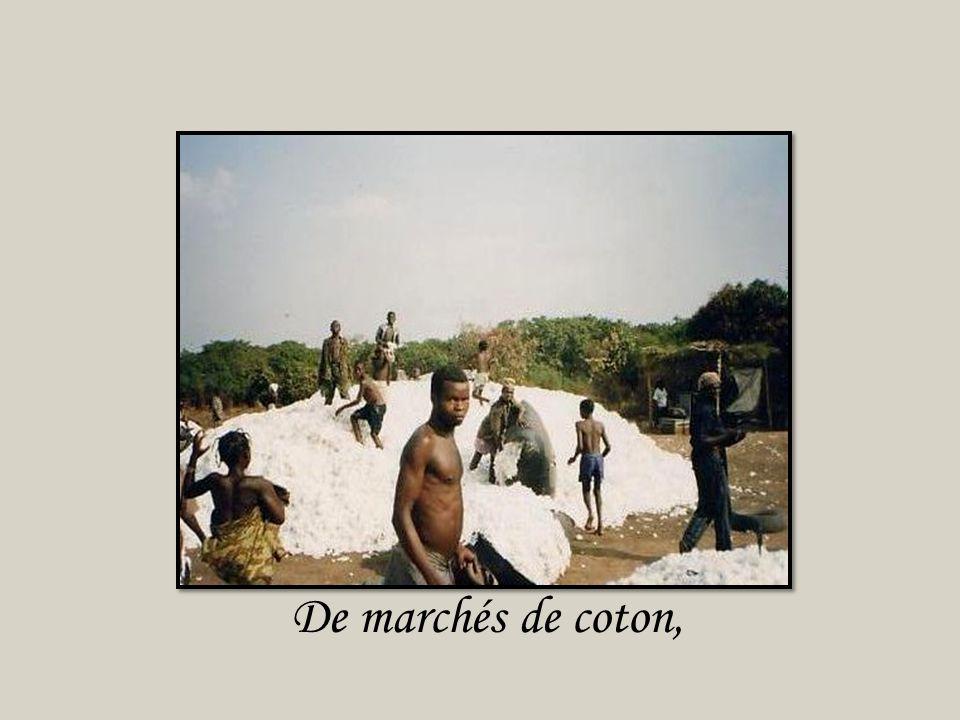De plantations de coton,