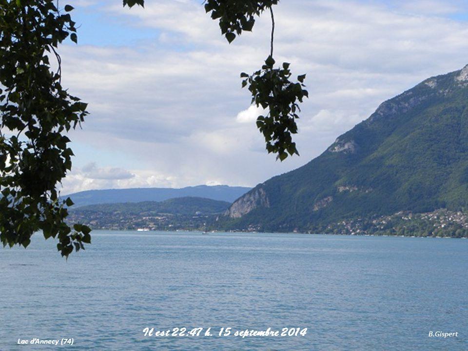 Lac d'Annecy (74) B.Gispert Il est 22:49 h. 15 septembre 2014