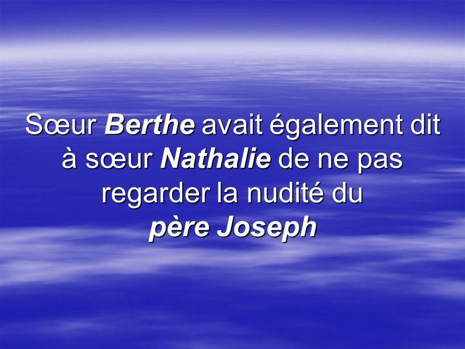 Et ensuite, le père Joseph a guidé sa clé du Paradis jusque dans ma serrure