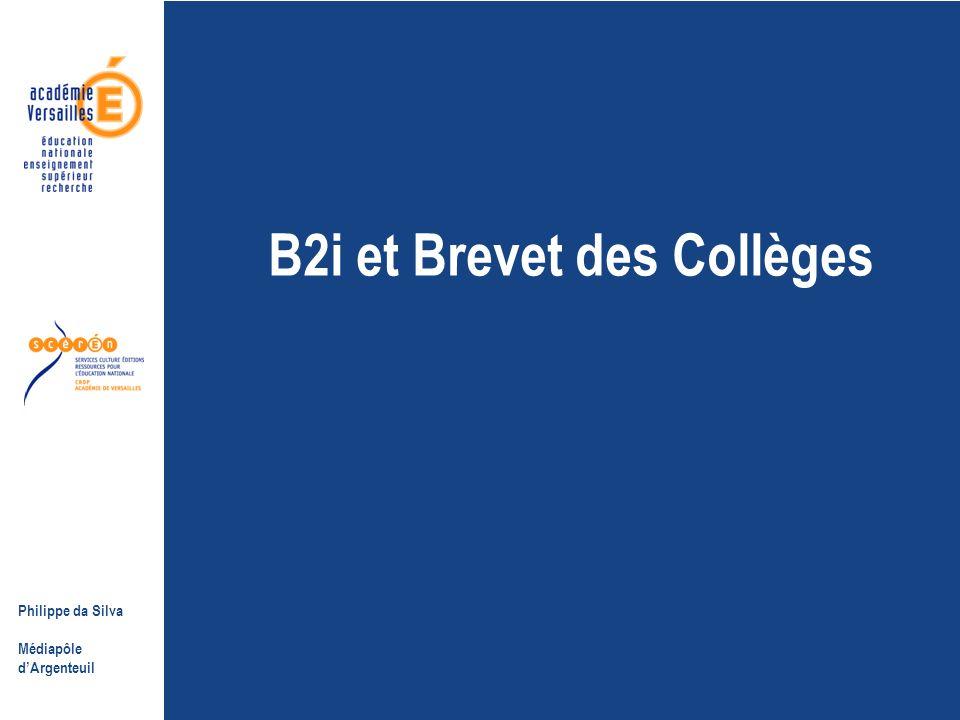 Philippe da Silva Médiapôle d'Argenteuil B2i et Brevet des Collèges