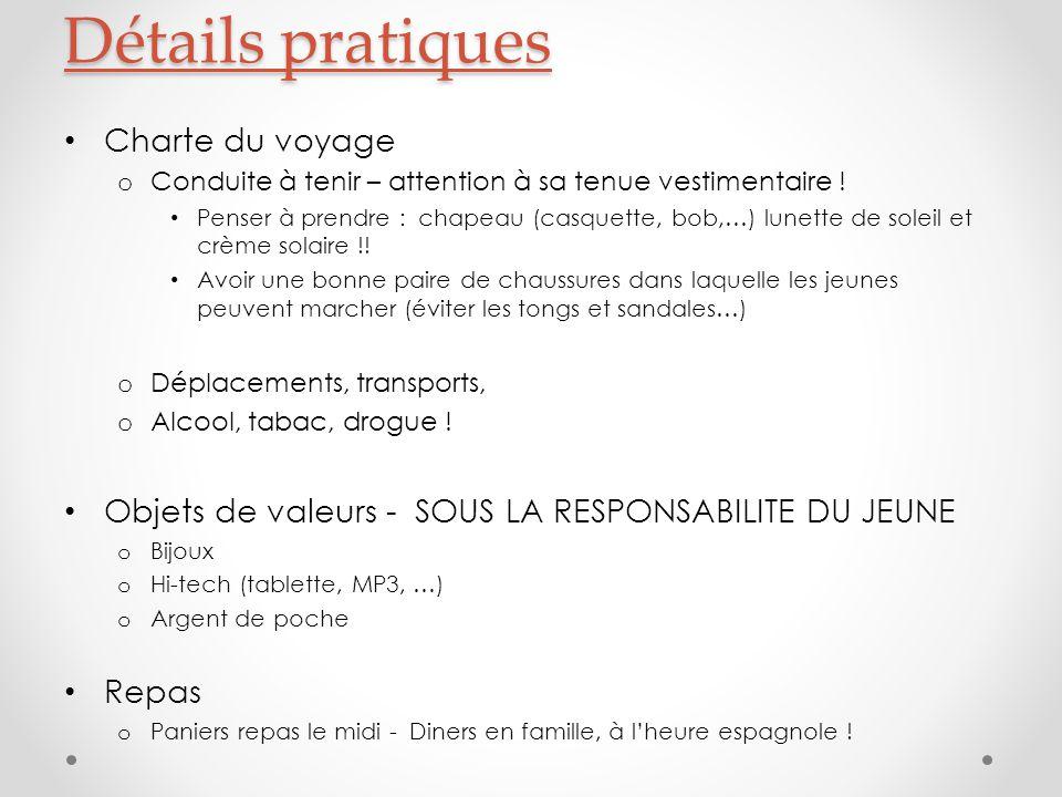 Détails pratiques Charte du voyage o Conduite à tenir – attention à sa tenue vestimentaire .