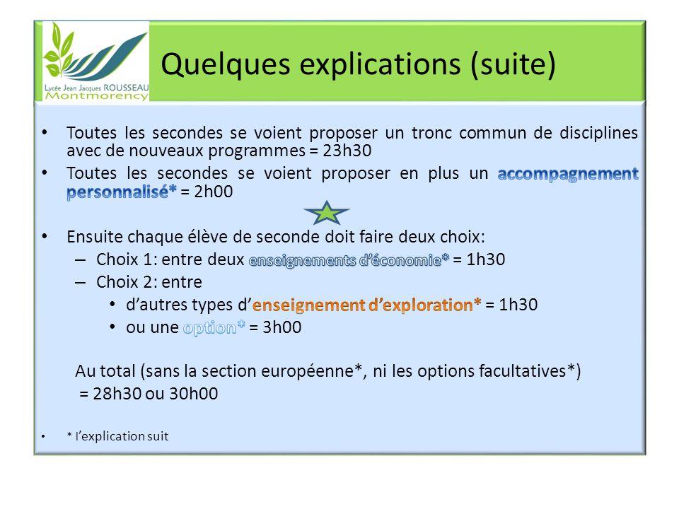En plus: LA SECTION EUROPEENNE - anglais Les élèves de section européenne doivent poser leur candidature en 3 ème.