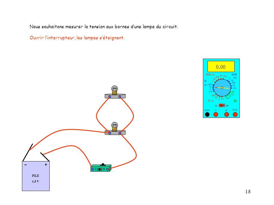 18 10 A Com mA DC A OffOn 10A 2A 200 20 V  2 V AC mA AC V DC 2M 20k 2k 200 0.2 2 200 20 2 0.2 2 20 200 10A 2A 200 20.