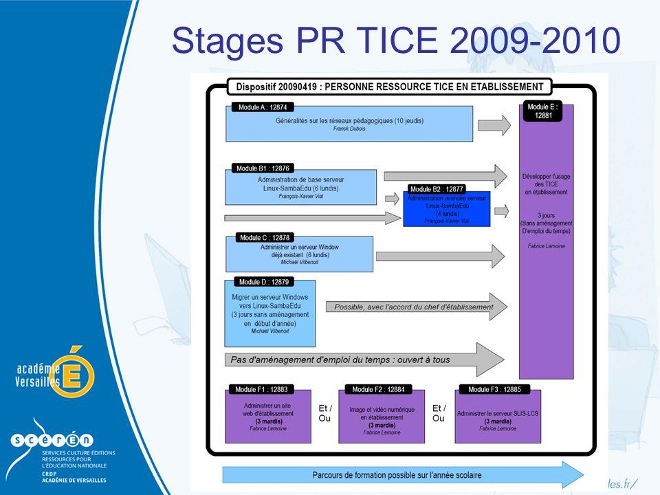 Stages PR TICE 2009-2010