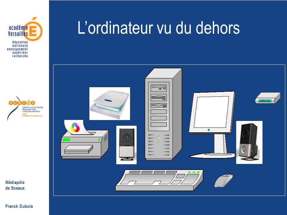 Médiapôle de Sceaux Franck Dubois 1.2- Assister le cours dialogué  La PréAO permet de juxtaposer des documents, d'y apposer des questions, des indications, des réponses…  Exemple : l'ordinateur Retour menu