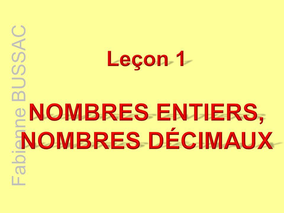 Fabienne BUSSAC Propriété : On ne change pas un nombre décimal si on ajoute ou si on enlève des zéros : à gauche de la partie entière ; à droite de la partie décimale.