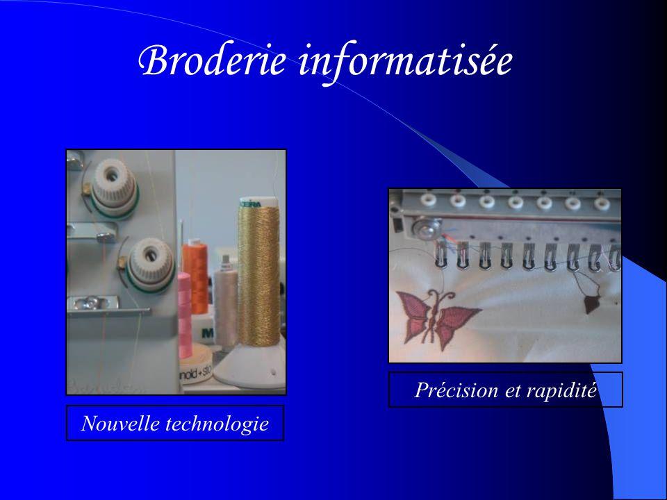 Broderie informatisée Nouvelle technologie Précision et rapidité