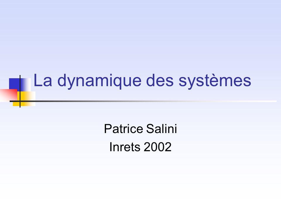 La dynamique des systèmes Patrice Salini Inrets 2002