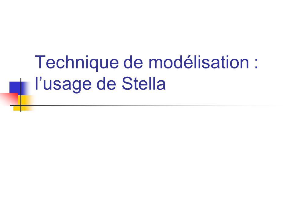 Technique de modélisation : l'usage de Stella