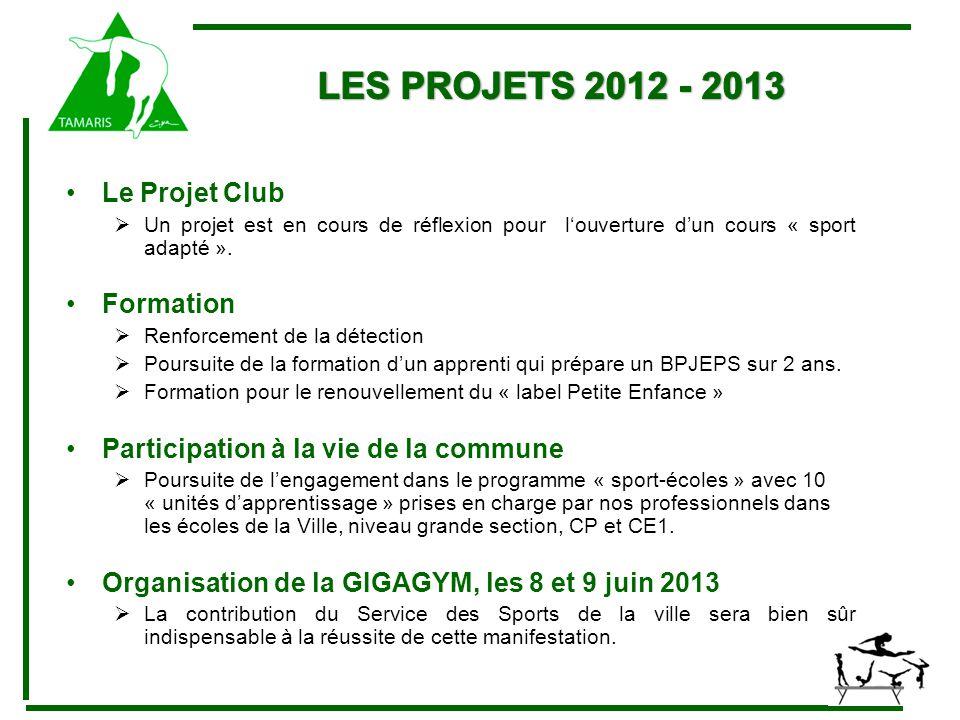 Le Projet Club  Un projet est en cours de réflexion pour l'ouverture d'un cours « sport adapté ».