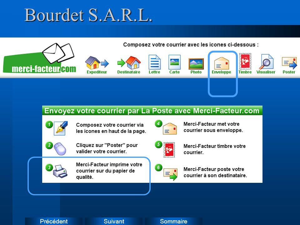 Suivant Précédent Sommaire Bourdet S.A.R.L.