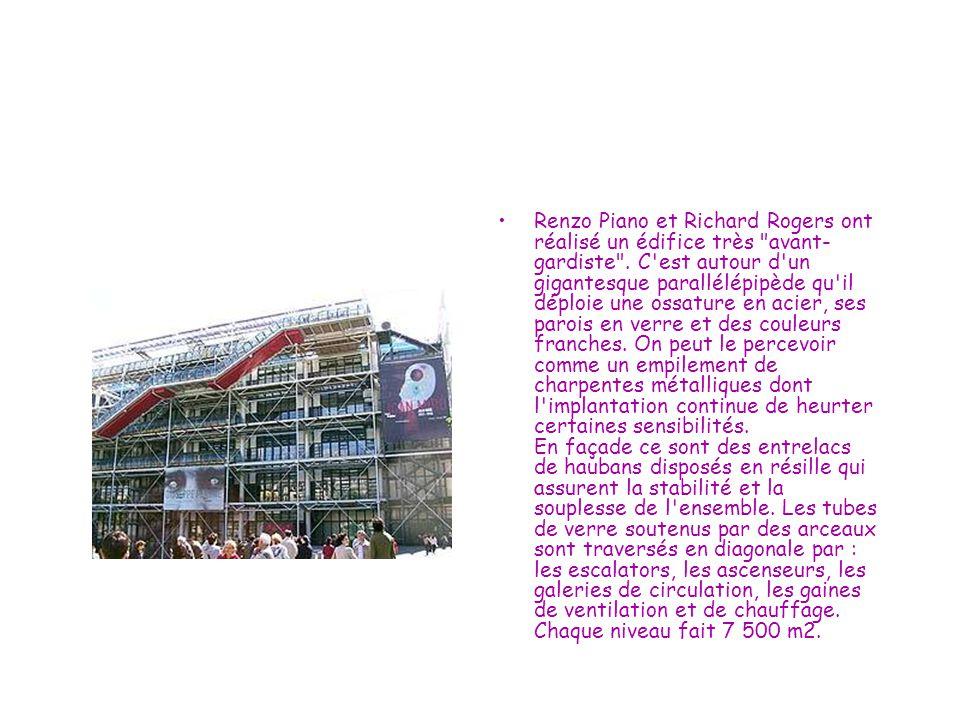 Renzo Piano et Richard Rogers ont réalisé un édifice très