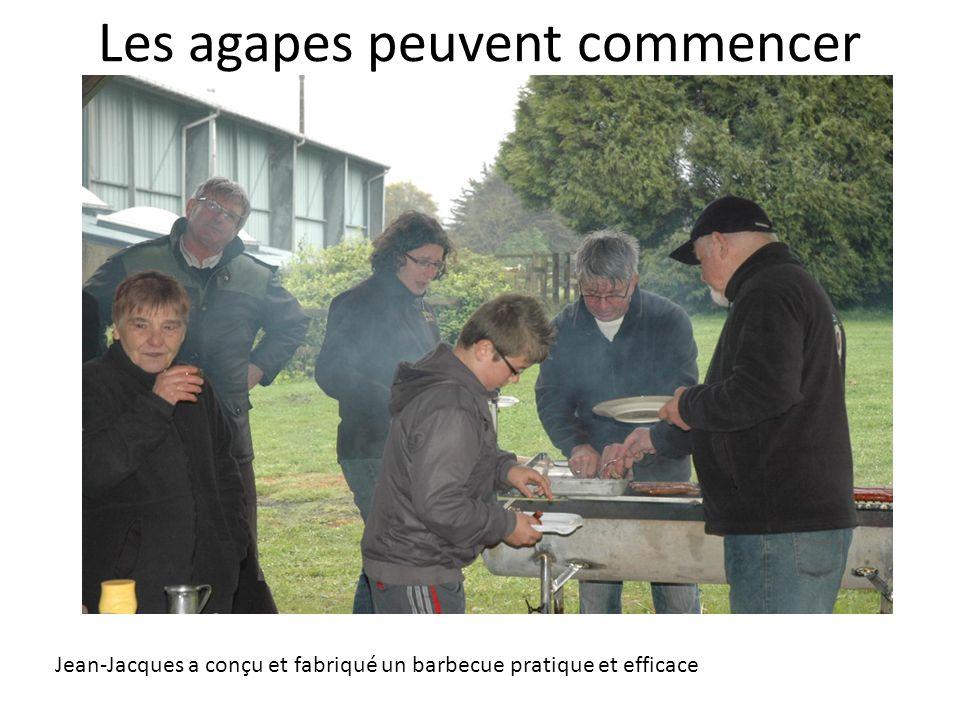 Les agapes peuvent commencer Jean-Jacques a conçu et fabriqué un barbecue pratique et efficace