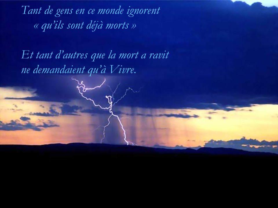 Une seconde ou une éternité Un être ou des milliers Tout est Vie ! Rien jamais ne finit….
