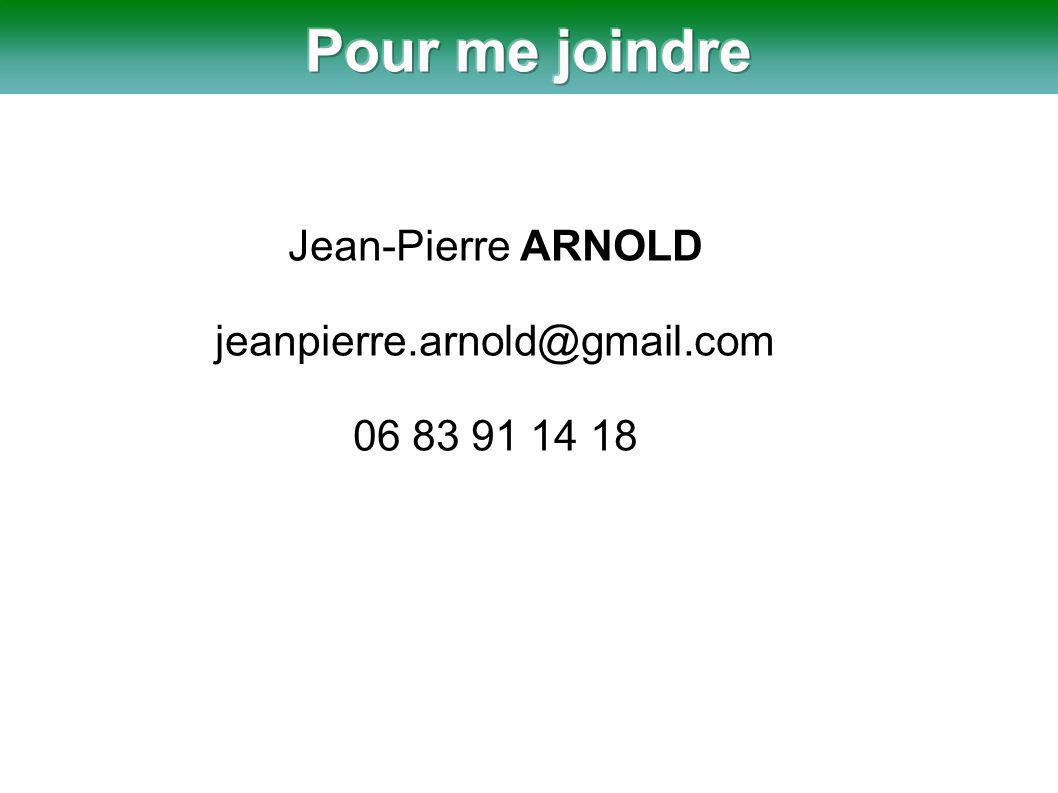Jean-Pierre ARNOLD jeanpierre.arnold@gmail.com 06 83 91 14 18