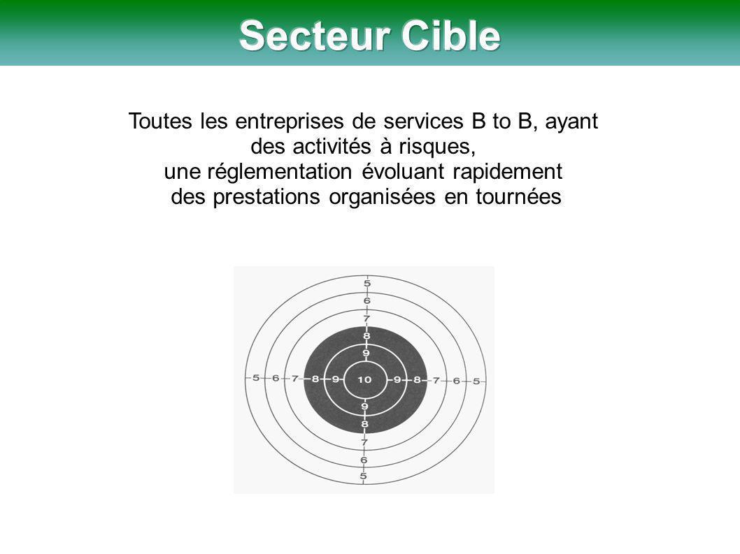 Toutes les entreprises de services B to B, ayant des activités à risques, une réglementation évoluant rapidement des prestations organisées en tournées