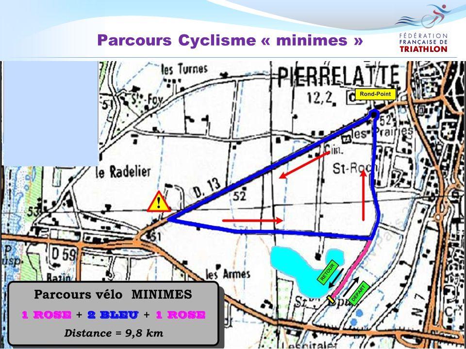 Parcours Cyclisme « minimes »