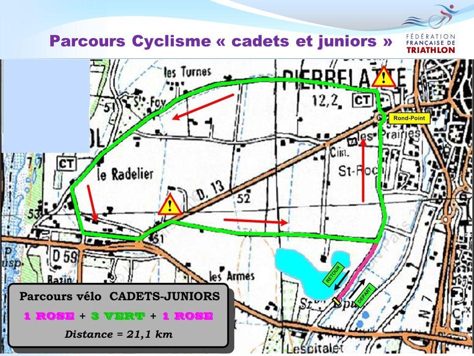 Parcours Cyclisme « cadets et juniors »