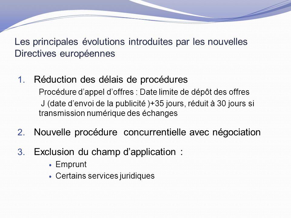 Les principales évolutions introduites par les nouvelles Directives européennes 1.