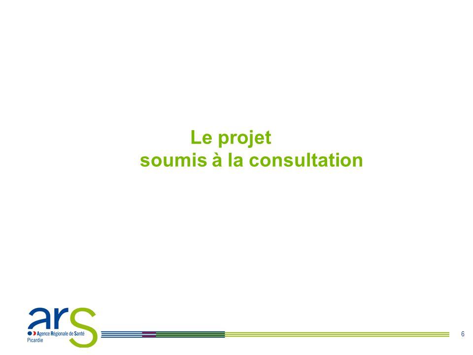 6 Le projet soumis à la consultation