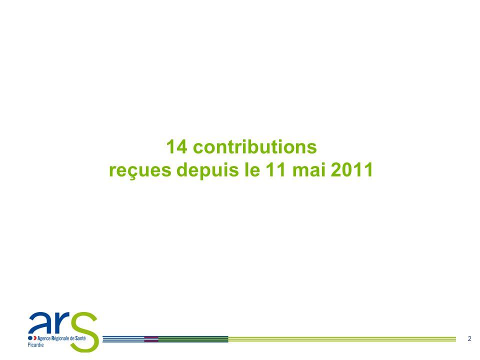 2 14 contributions reçues depuis le 11 mai 2011