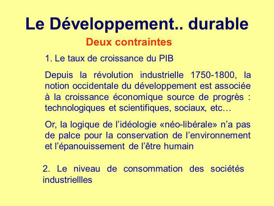 économie Le Développement.. durable environnement société