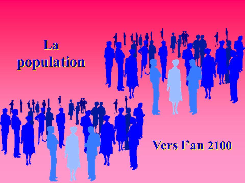 La population Vers l'an 2100