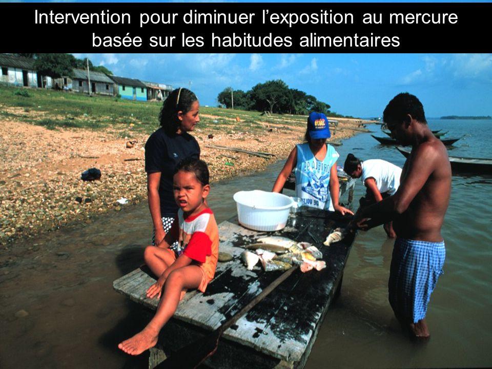 Intervention pour diminuer l'exposition au mercure basée sur les habitudes alimentaires