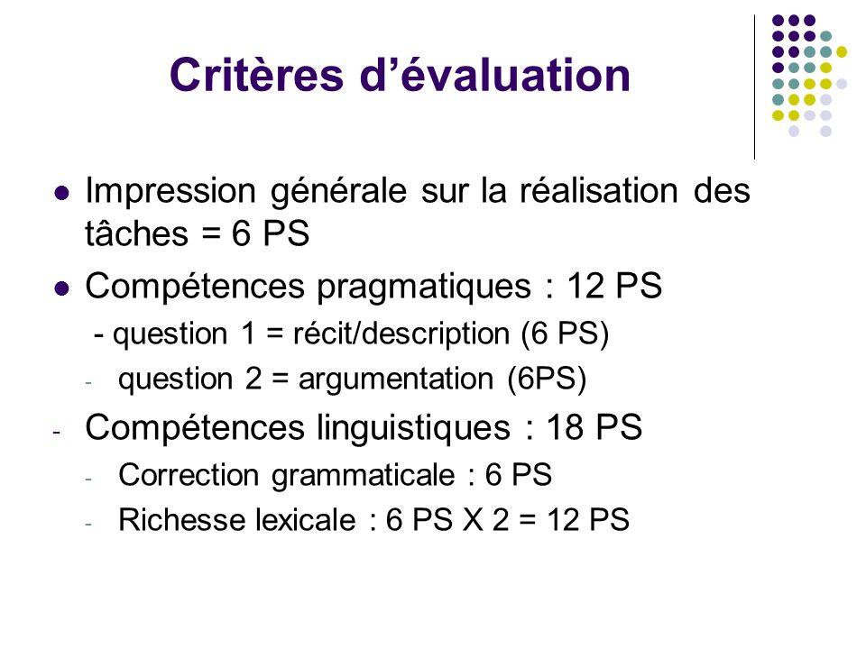 La réussite dans la construction du récit ou de la description est supérieure à celle dans la conduite de l'argumentation, sauf pour les candidats B2