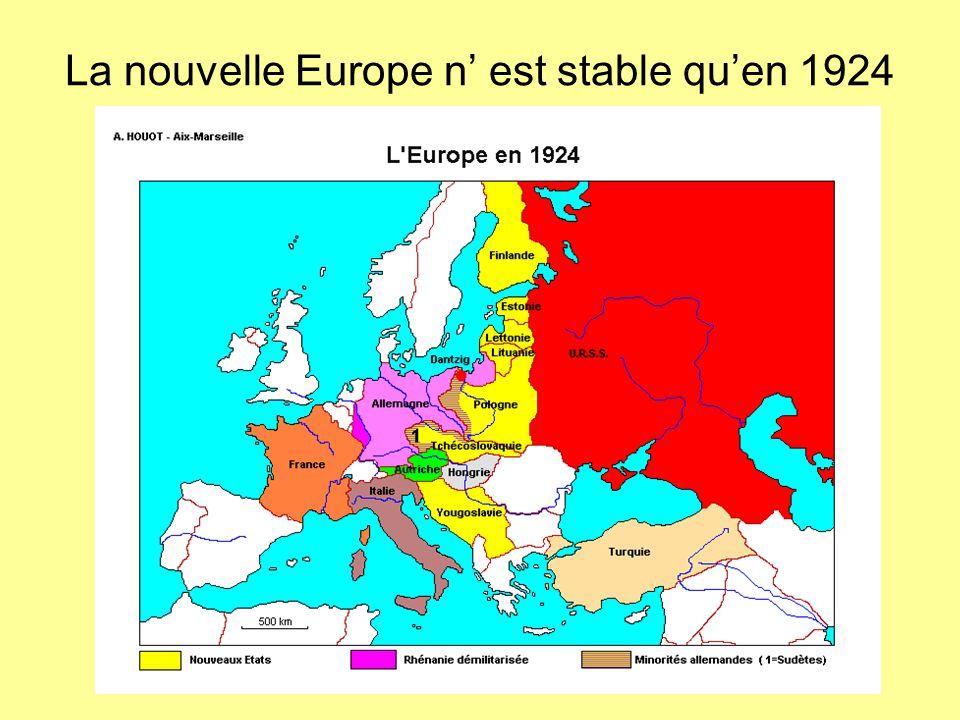 La nouvelle Europe n' est stable qu'en 1924