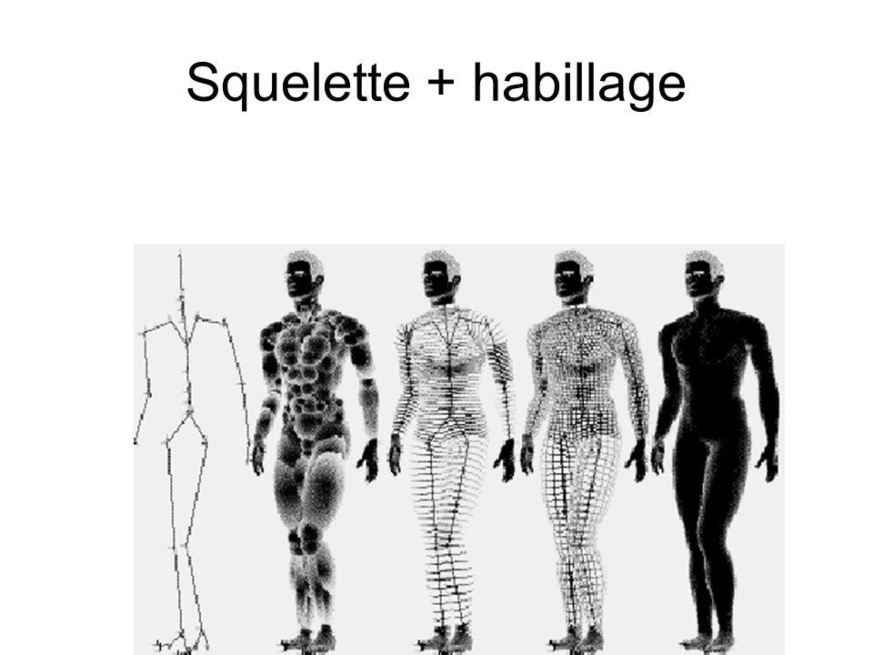 Squelette + habillage