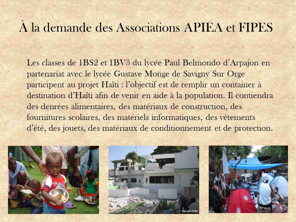 Association Parents d'Ici Enfants d'Ailleurs (APIEA) Association loi 1901 d'intérêt général créée en 2004.