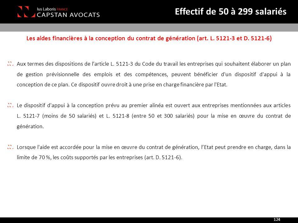 Les aides financières à la conception du contrat de génération (art. L. 5121-3 et D. 5121-6) Aux termes des dispositions de l'article L. 5121-3 du Cod