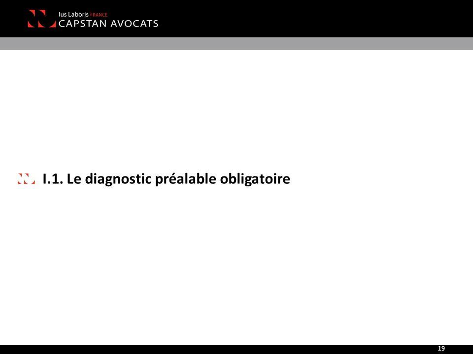 I.1. Le diagnostic préalable obligatoire 19